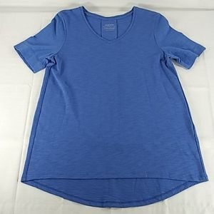 Chico's blue S/S Ultimate Tee 0 S NEW 0418
